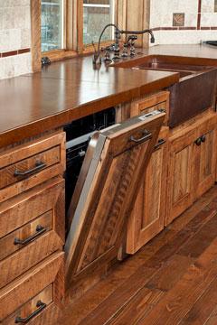 dishwasher and kitchen sink