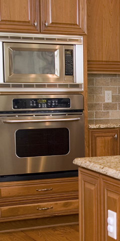 wall oven and microwave oven