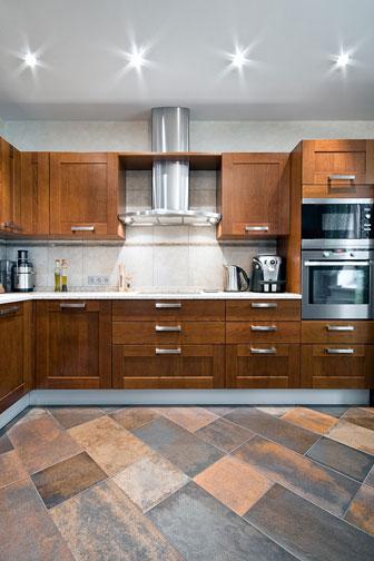 kitchen appliances in a new kitchen
