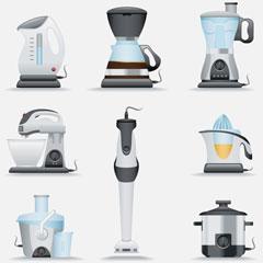 portable kitchen appliances (illustration)