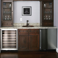 under counter wine cooler and bar refrigerator